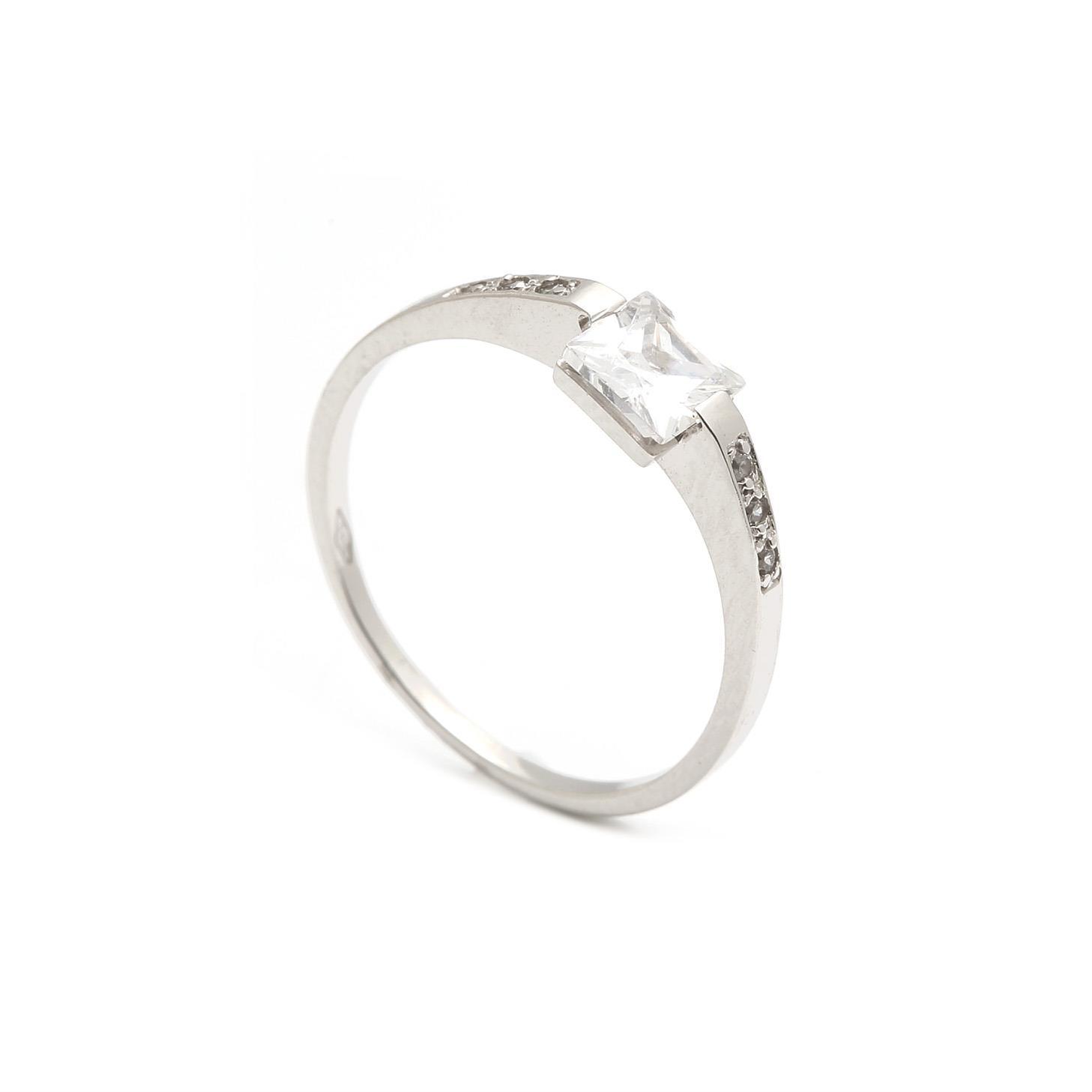Zlatý zásnubný prsteň PERLA 3PB00139