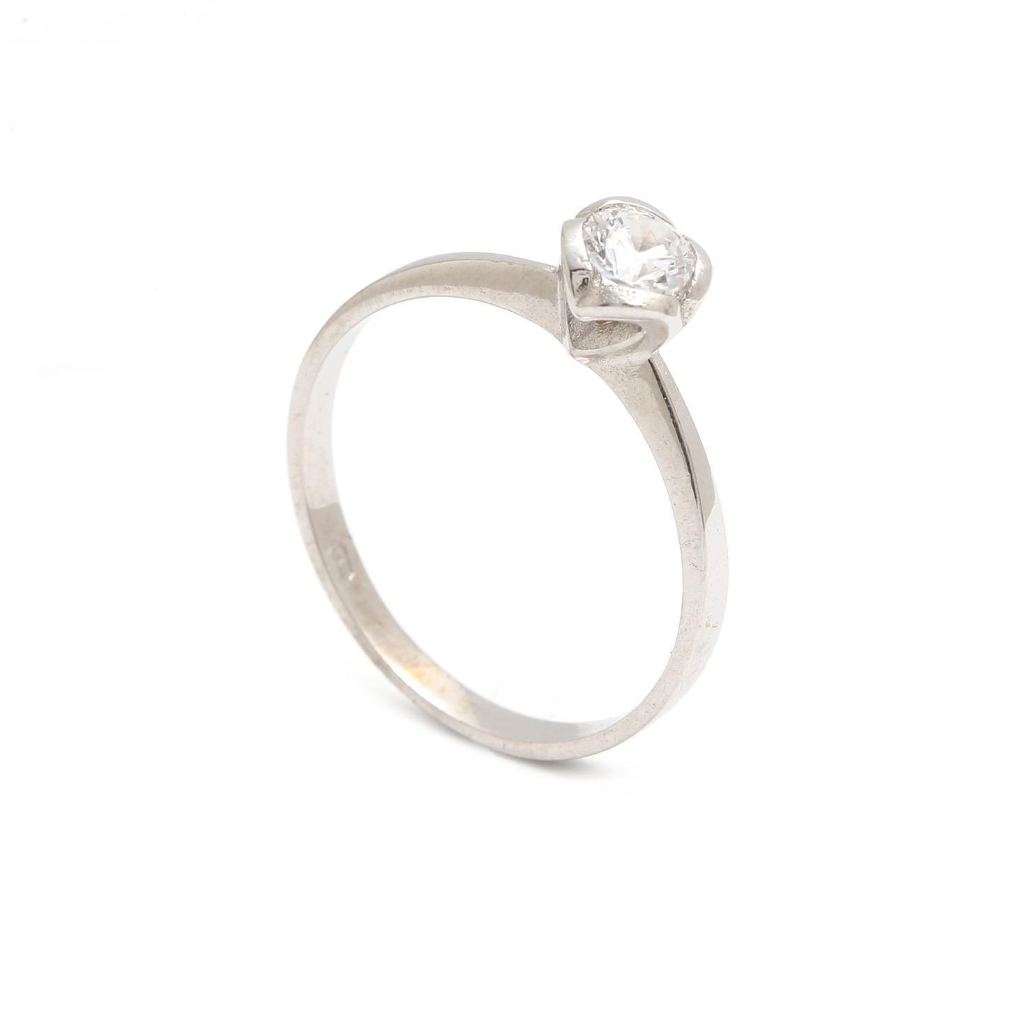 Zlatý zásnubný prsteň PHYLLIDA white 2PB00186