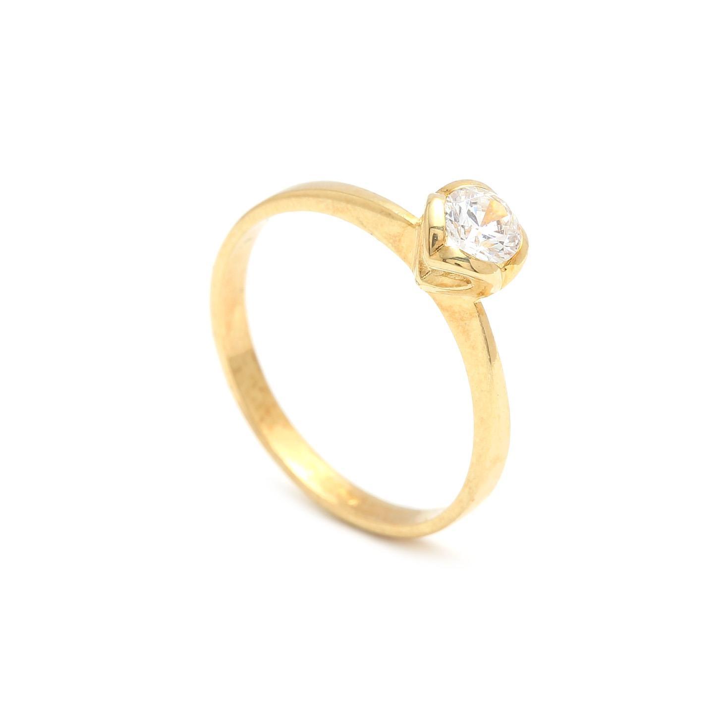 Zlatý zásnubný prsteň PHYLLIDA 2PZ00185
