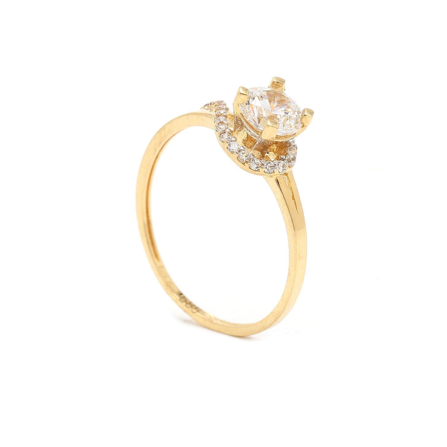 Zlatý zásnubný prsteň RAISA 7PZ00385