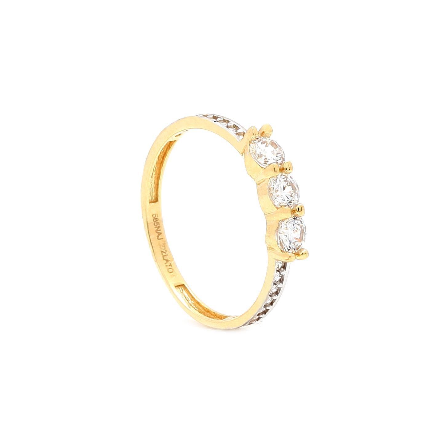 Zlatý zásnubný prsteň RANDY 50476201df1