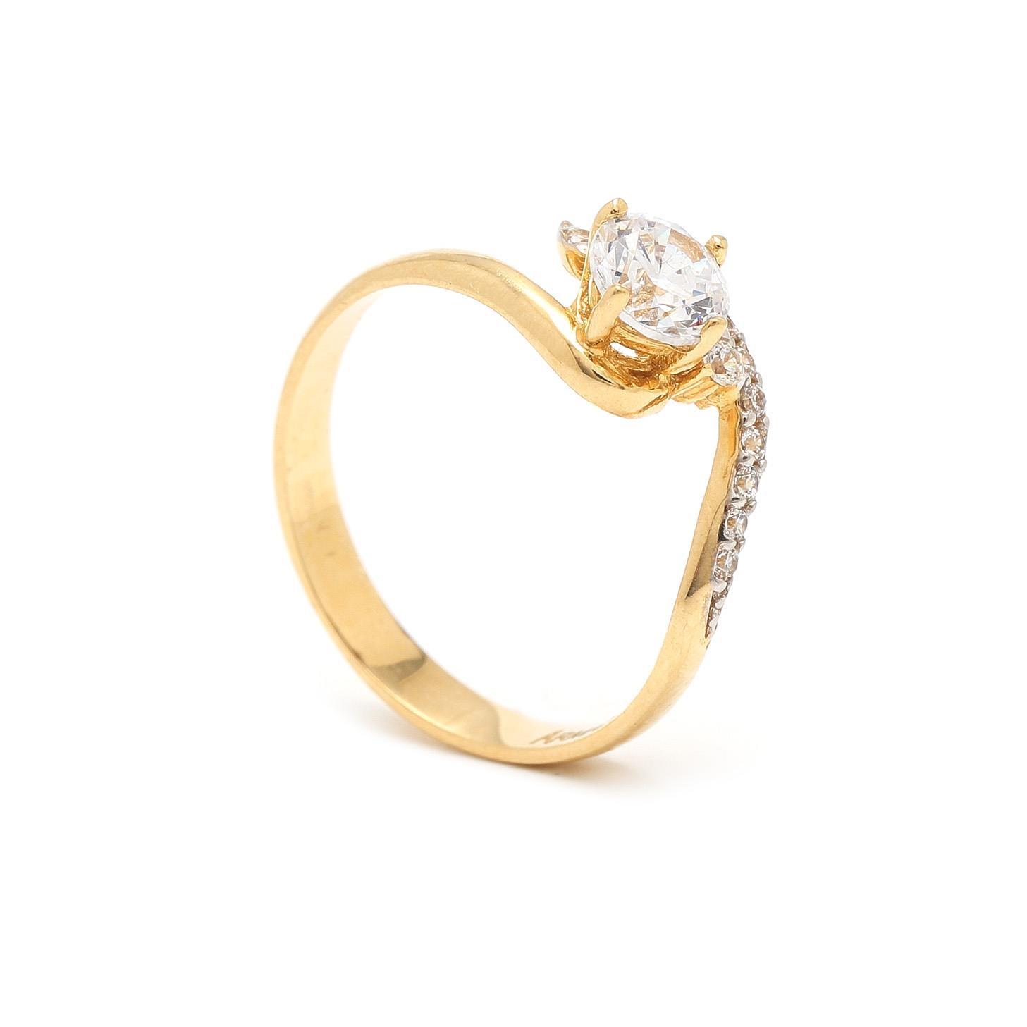 Zlatý zásnubný prsteň RAYNA 7PZ00386
