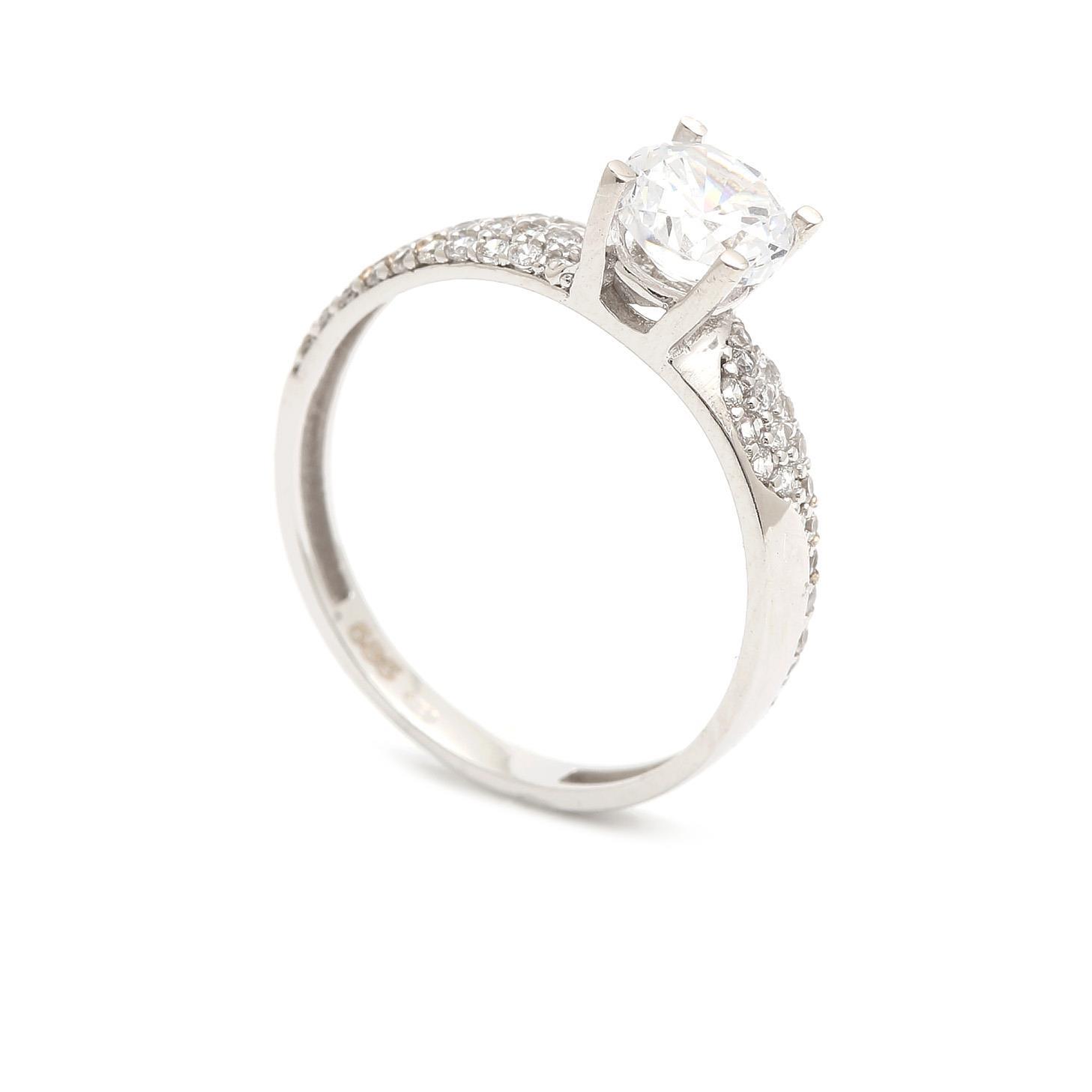 Zlatý zásnubný prsteň SALOMEA 4PB00251