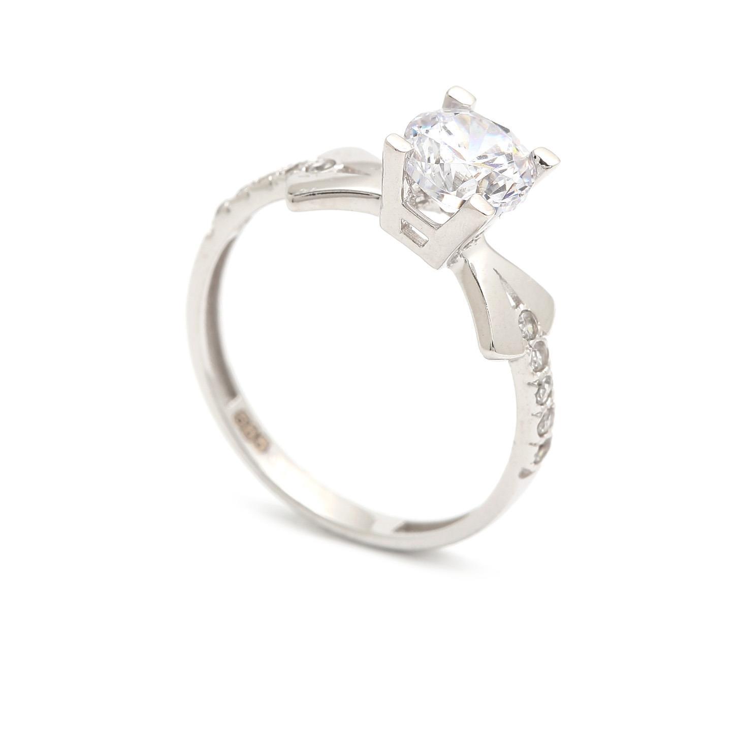 Zlatý zásnubný prsteň SHADI 4PB00231