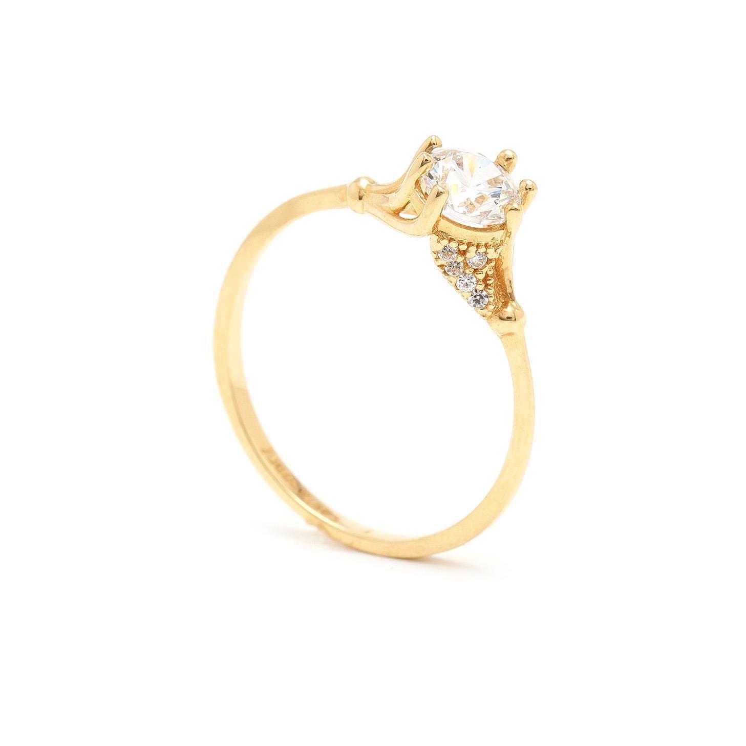 Zlatý zásnubný prsteň SHAINA 7PZ00387