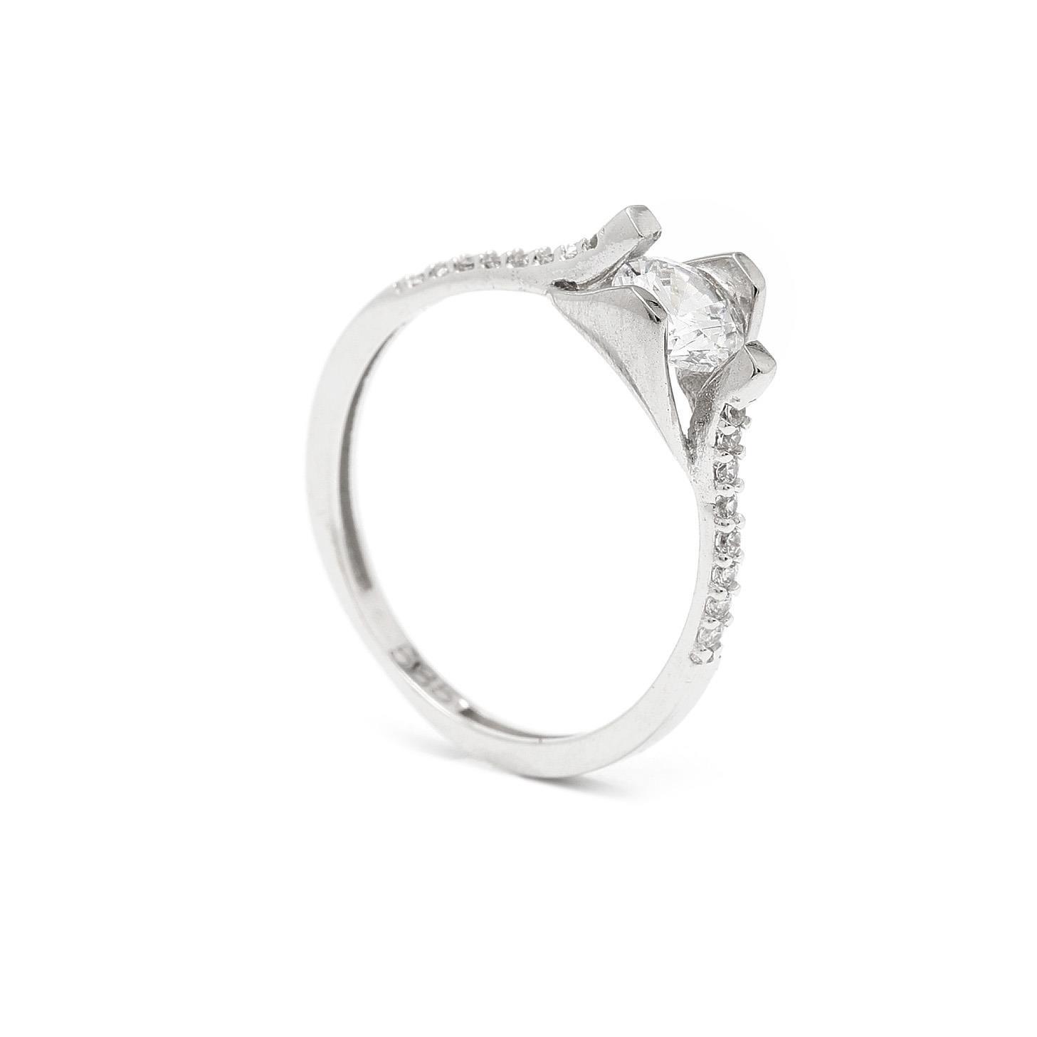 Zlatý zásnubný prsteň SIMA 7PB00405