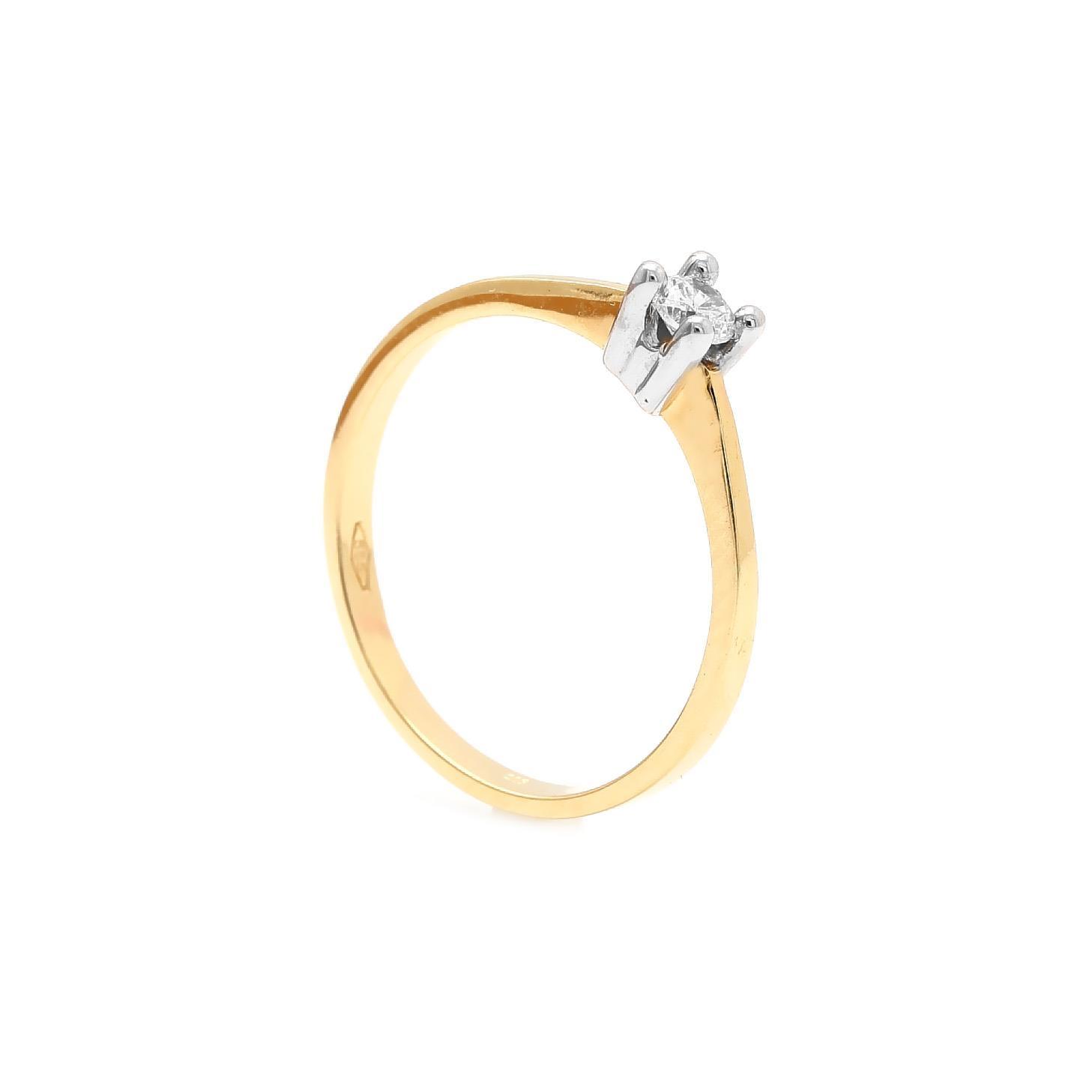 Zlatý zásnubný prsteň TALETTA dc86fc6273b