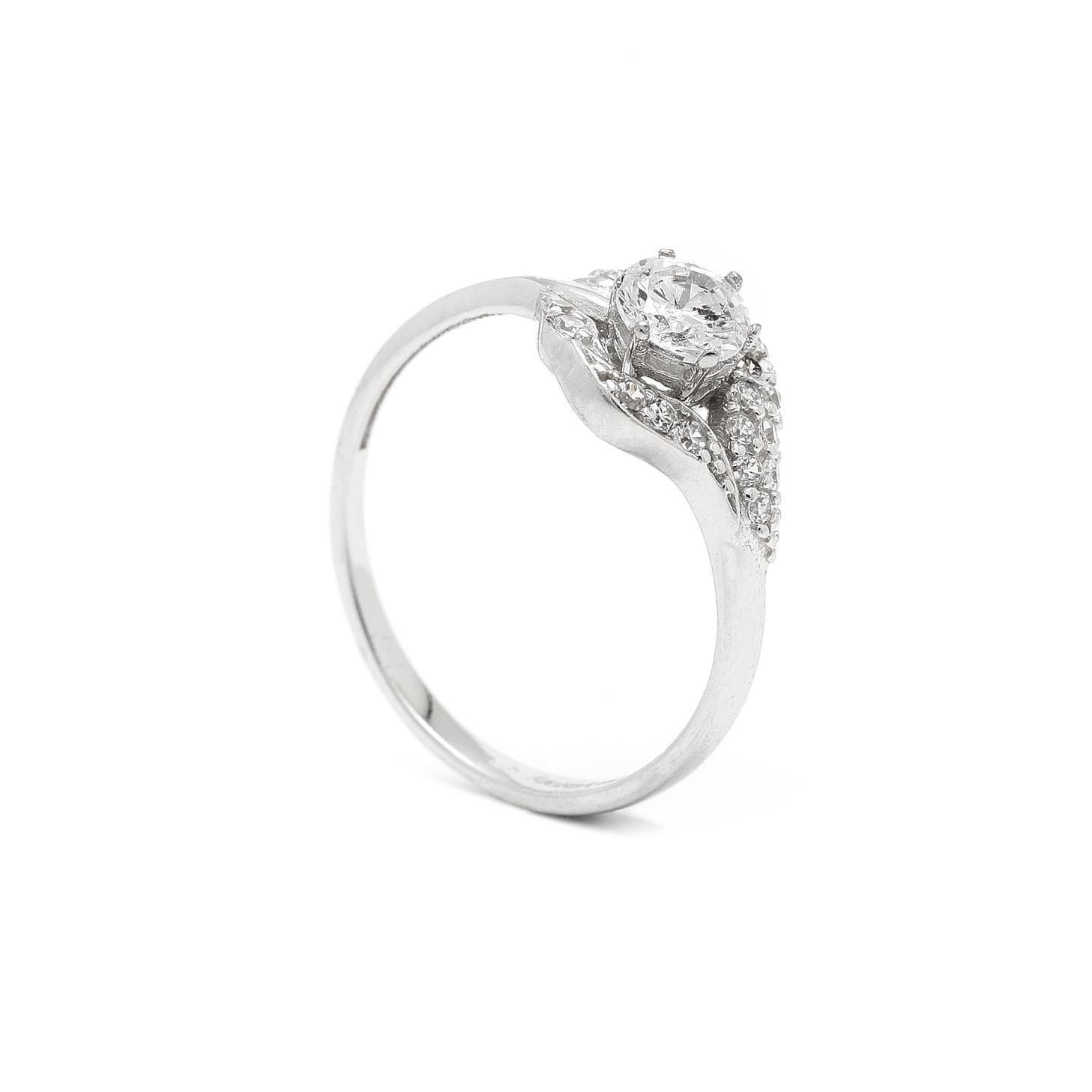 Zlatý zásnubný prsteň TALIA 7PB00400