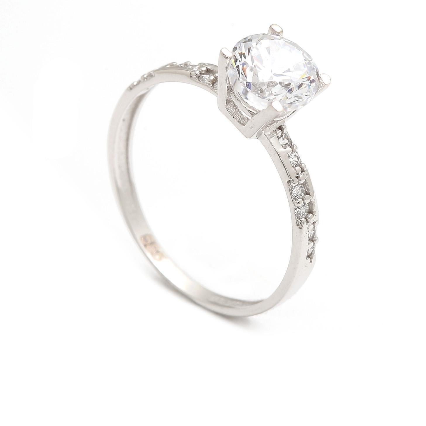Zlatý zásnubný prsteň TONIA white 4PB00240
