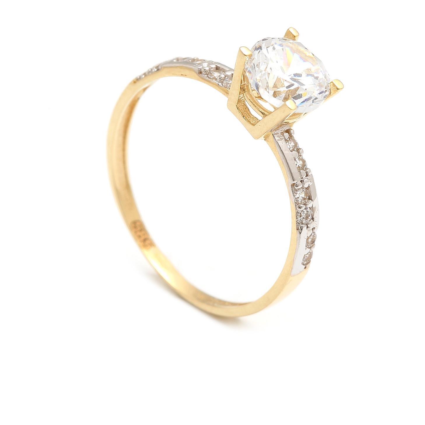Zlatý zásnubný prsteň TONIA 4PZ00239