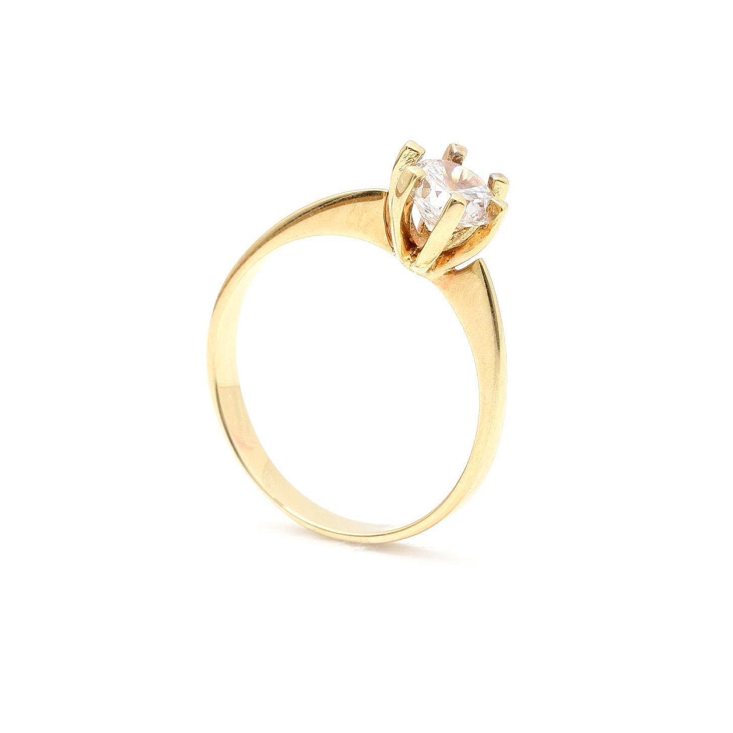 Zlatý zásnubný prsteň TRESHA 0a20983ab89