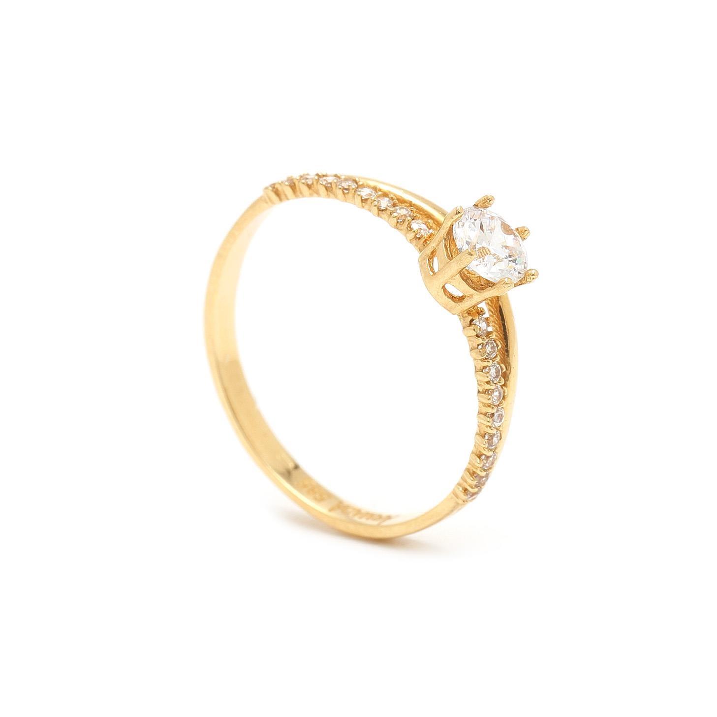 Zlatý zásnubný prsteň VELVELA 7PZ00389