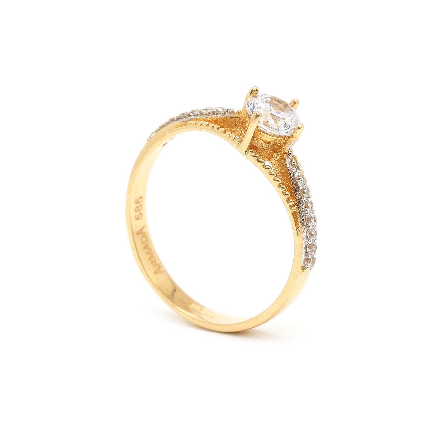 Zlatý zásnubný prsteň YARYNA 7PZ00390