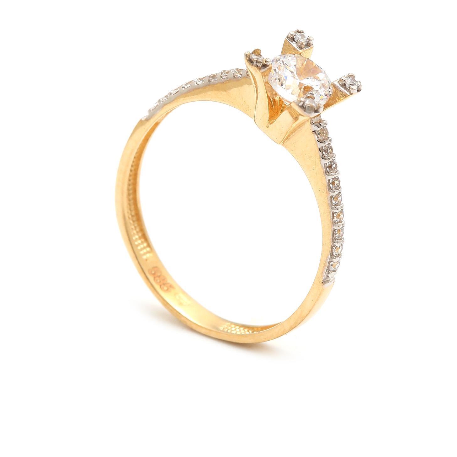 Zlatý zásnubný prsteň YSABEL 4PZ00238