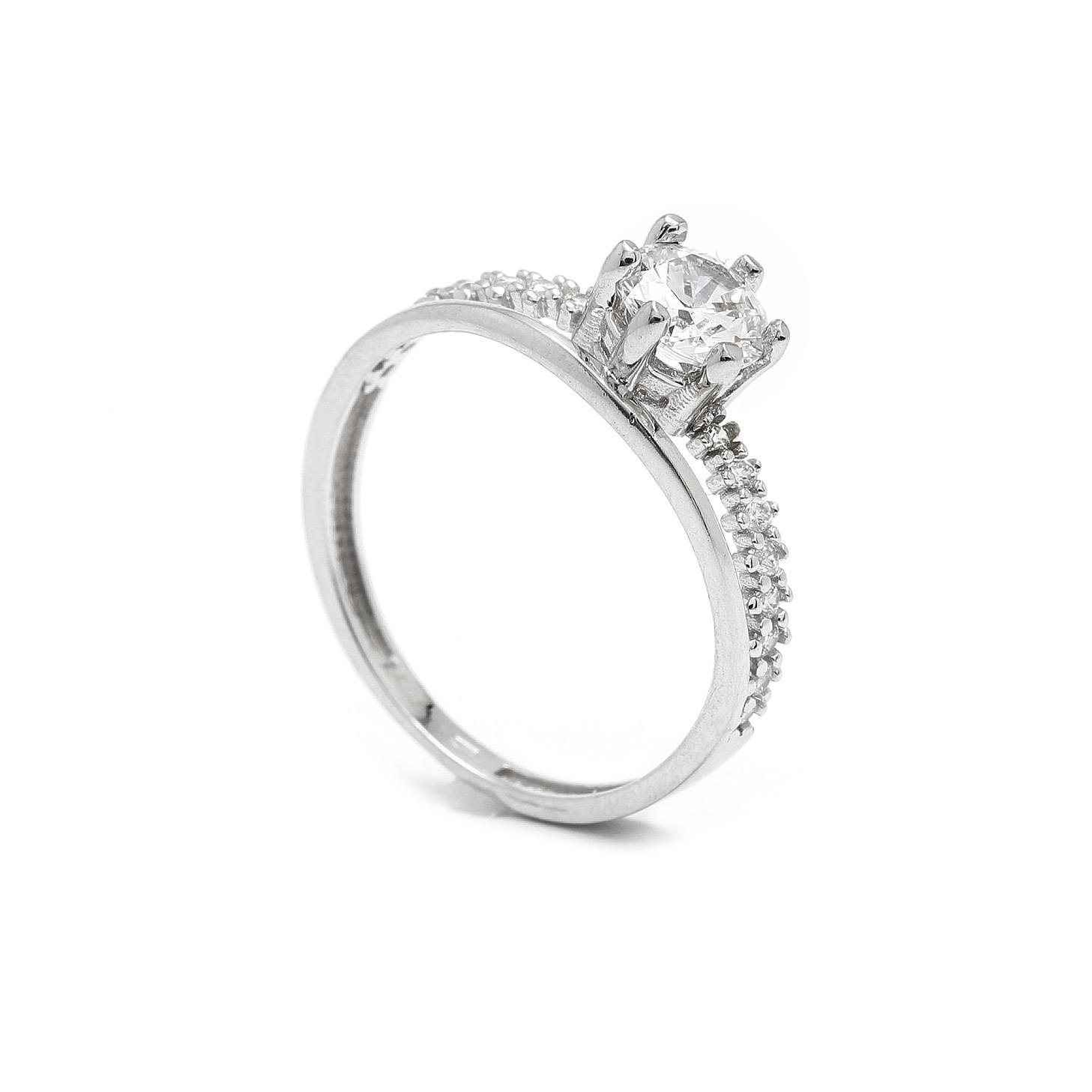 Zlatý zásnubný prsteň ZEITAL 7PB00402