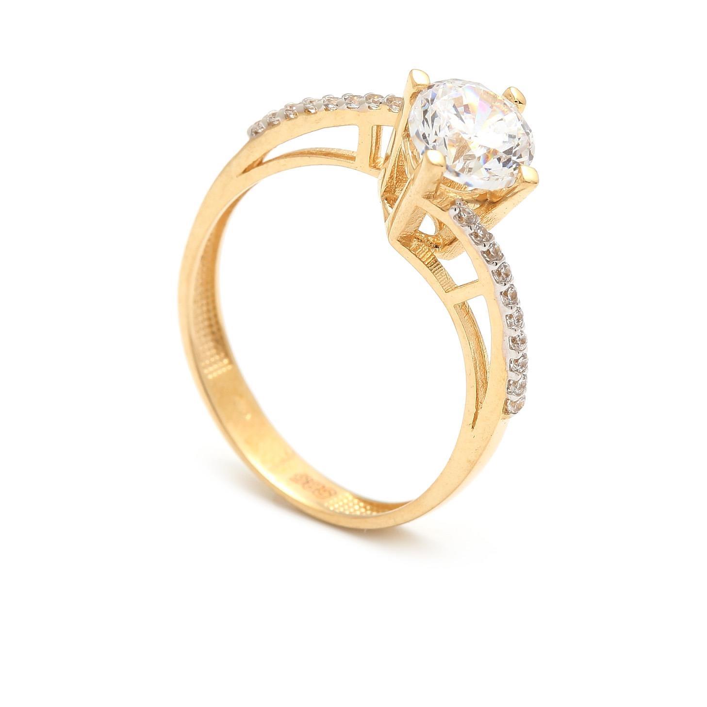 Zlatý zásnubný prsteň ZENAIDA e50f8626526