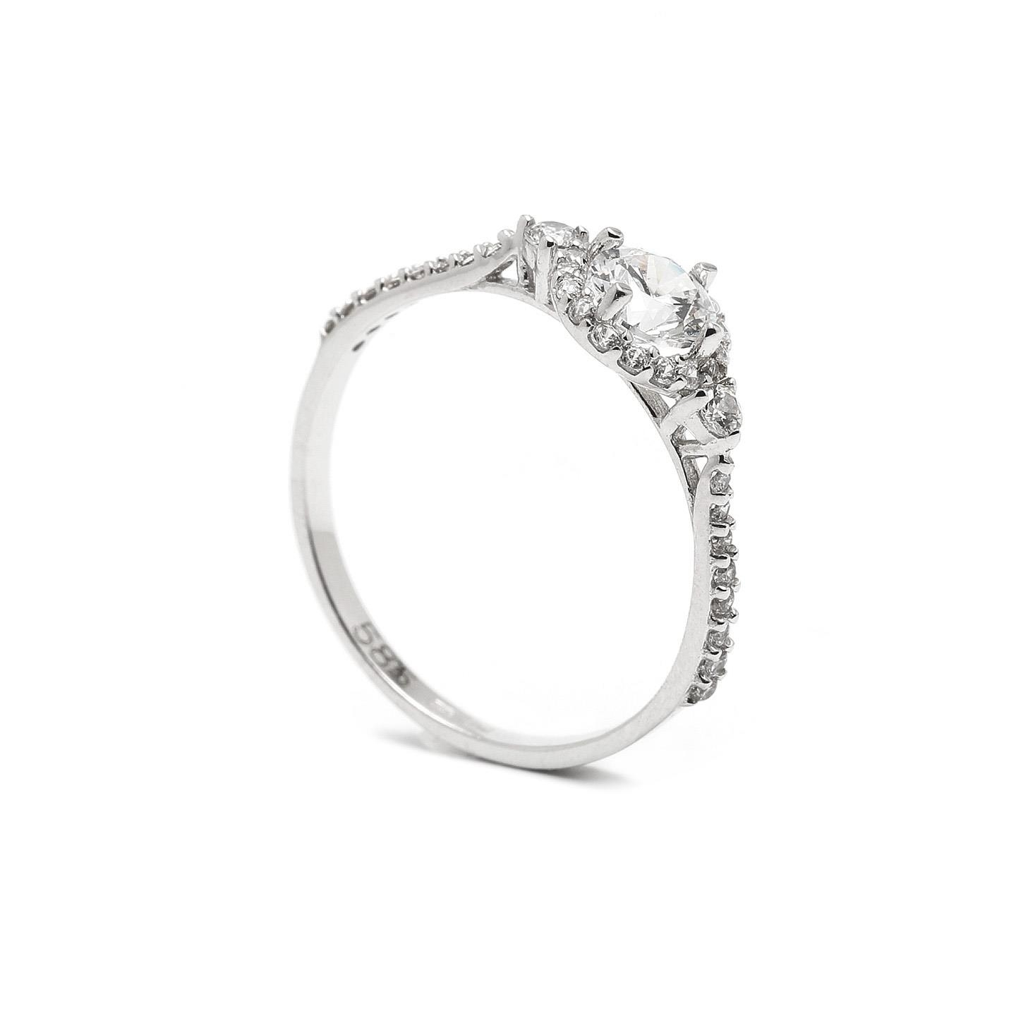 Zlatý zásnubný prsteň ZETA 7PB00401