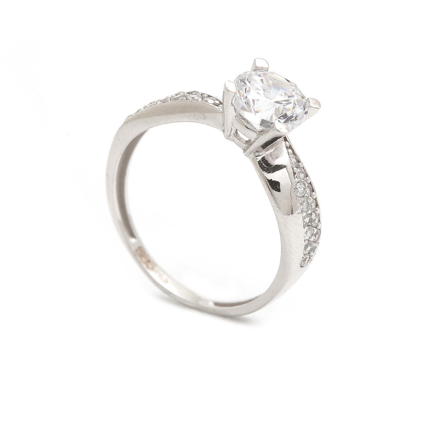 Zlatý zásnubný prsteň ZOSIA white 4PB00241