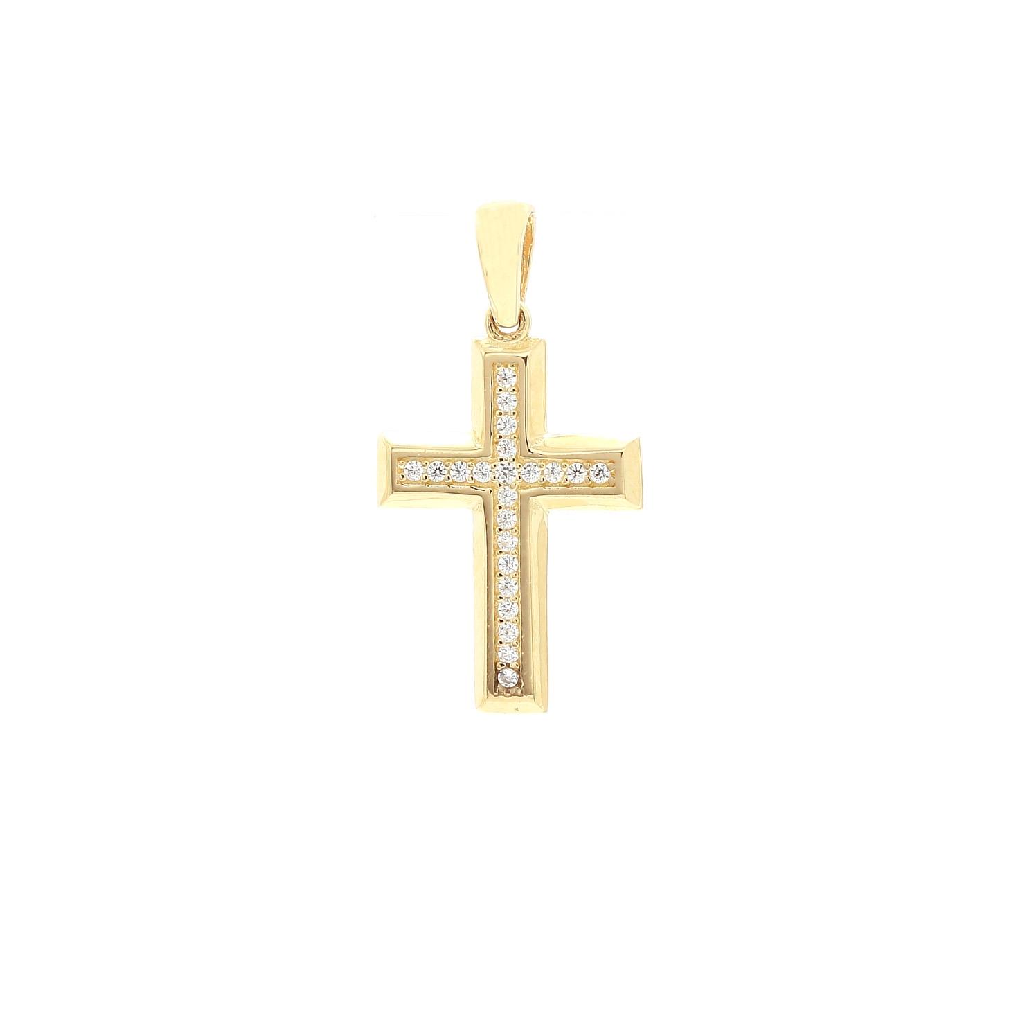 9957720e9796 Zlatý zirkónový krížik