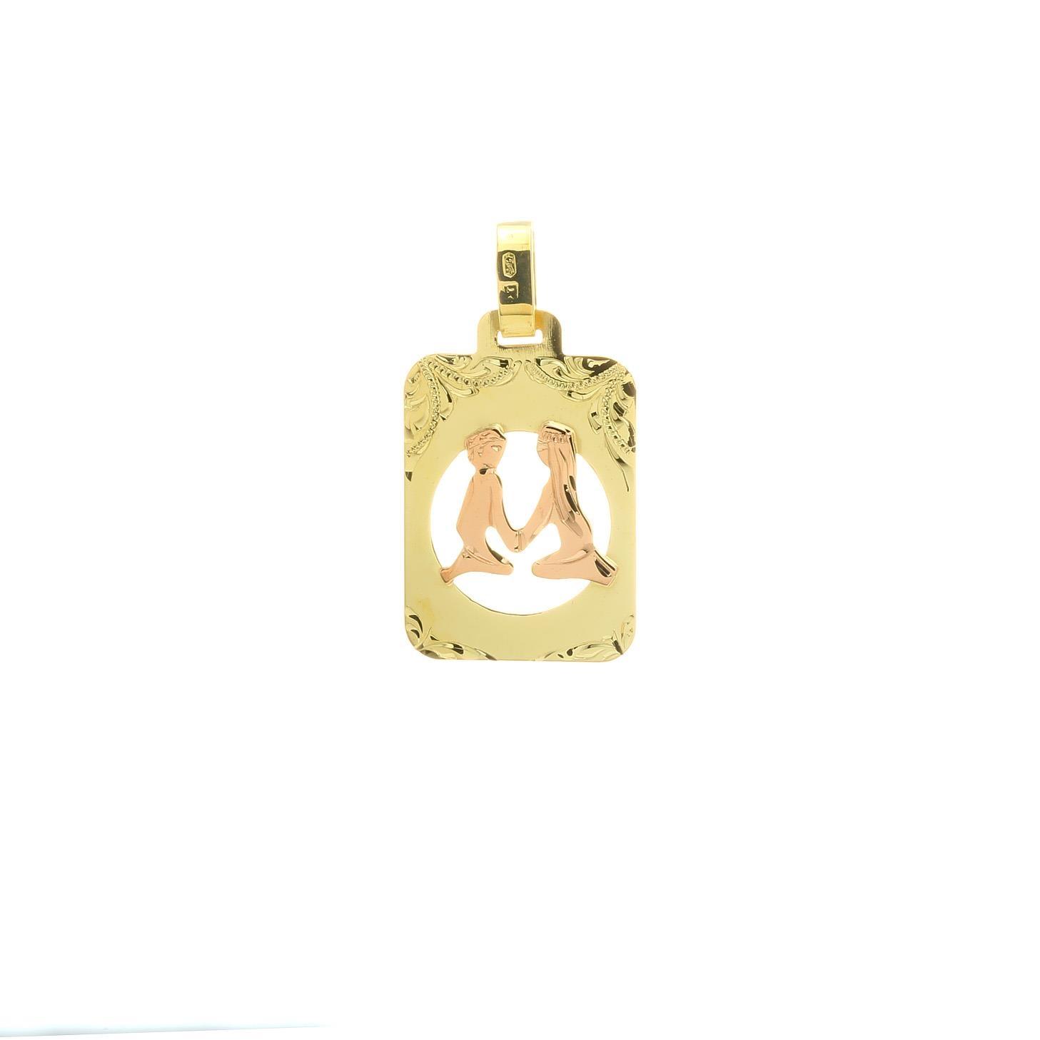 Znamenie blíženci z kombinovaného zlata 2VK00265