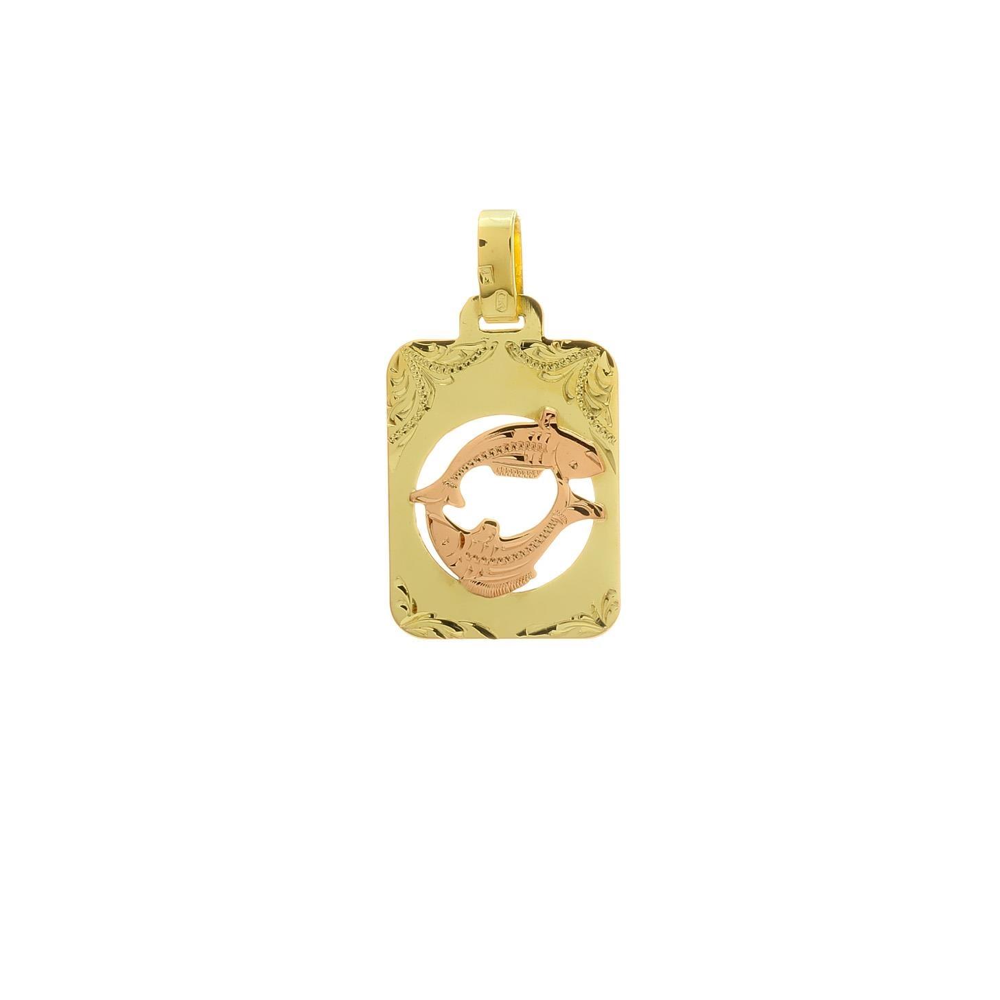 Znamenie ryby z kombinovaného zlata 2VK00262