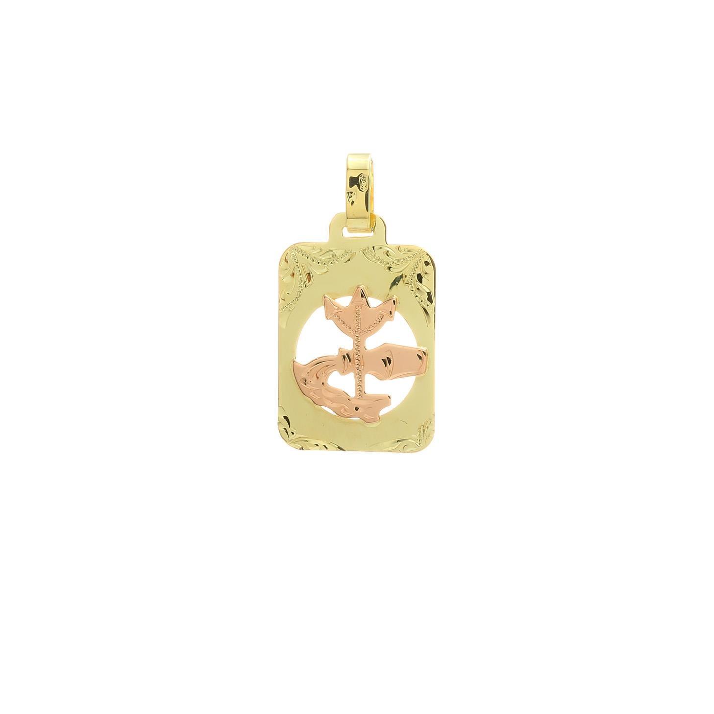 Znamenie vodnár z kombinovaného zlata 2VK00273