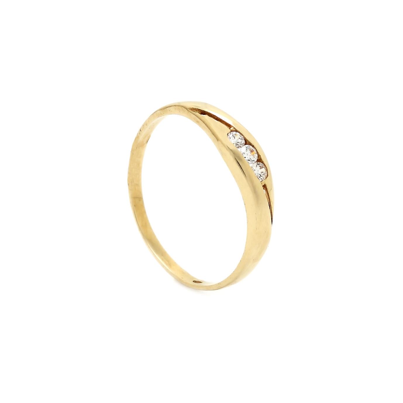 e54100f56 Zlatý prsteň DAMIA so zirkónmi