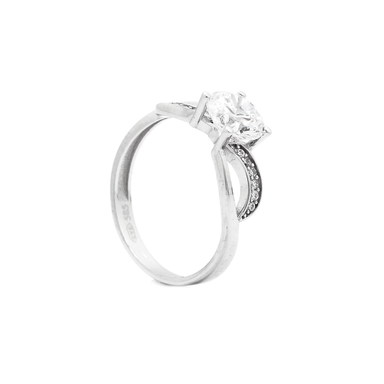 Zlatý zásnubný prsteň ALIDA