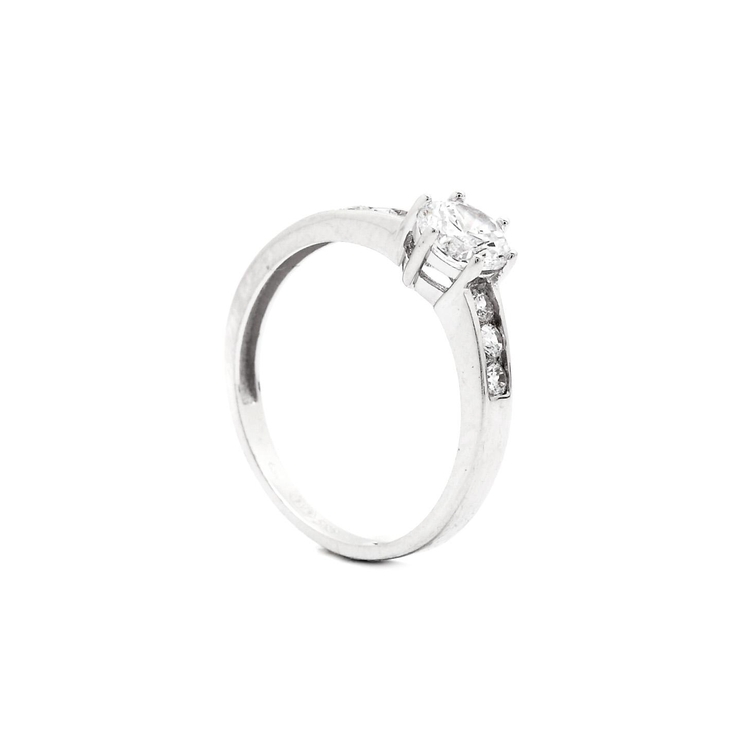 Zlatý zásnubný prsteň ALINA