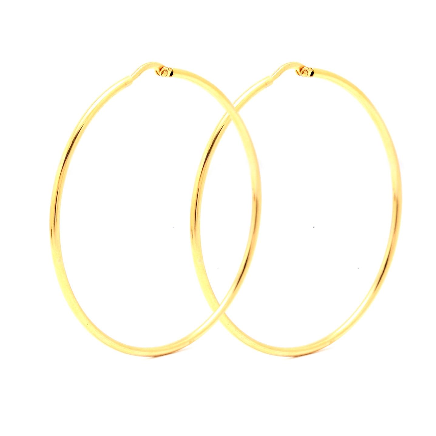 Zlaté náušnice CALEY - veľké kruhy