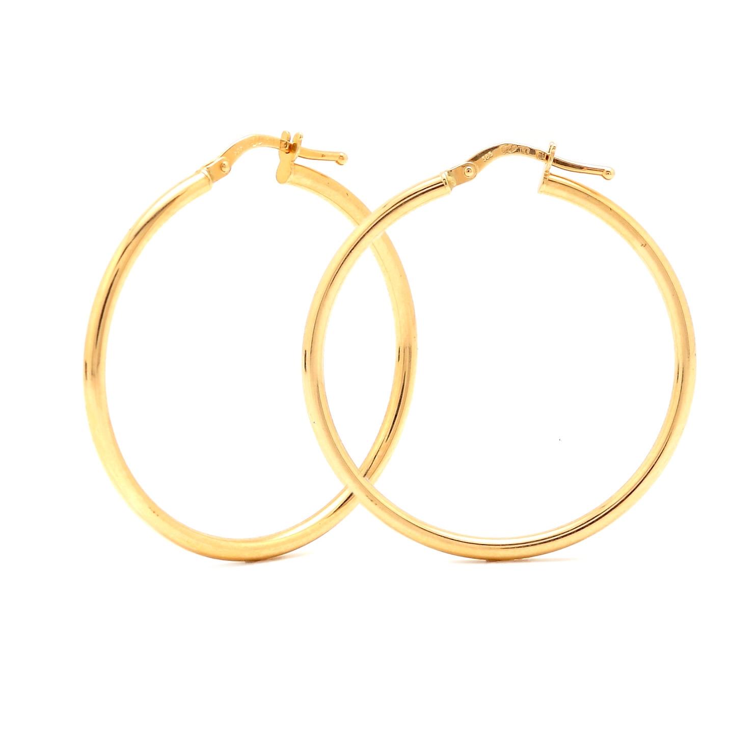 Zlaté náušnice DELLA - stredné kruhy