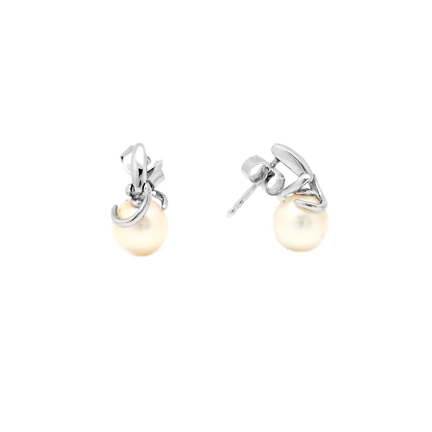 Zlaté náušnice EILEN s perlou