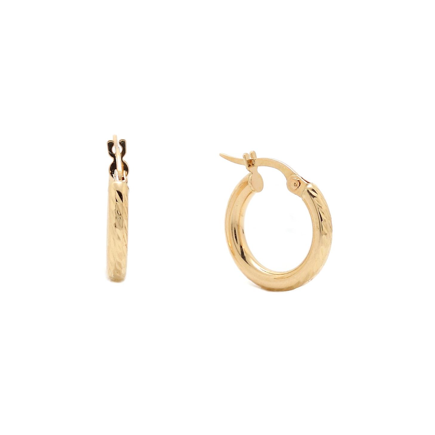 Zlaté náušnice ENORA - malé kruhy
