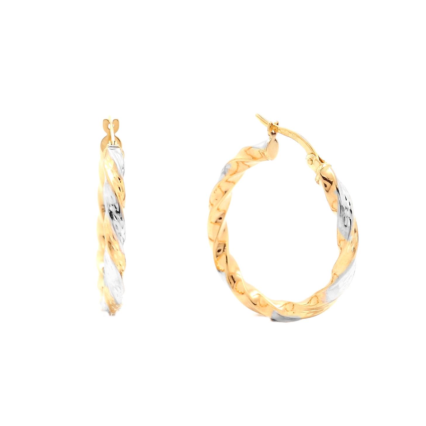 Zlaté náušnice ESTEE - kruhy