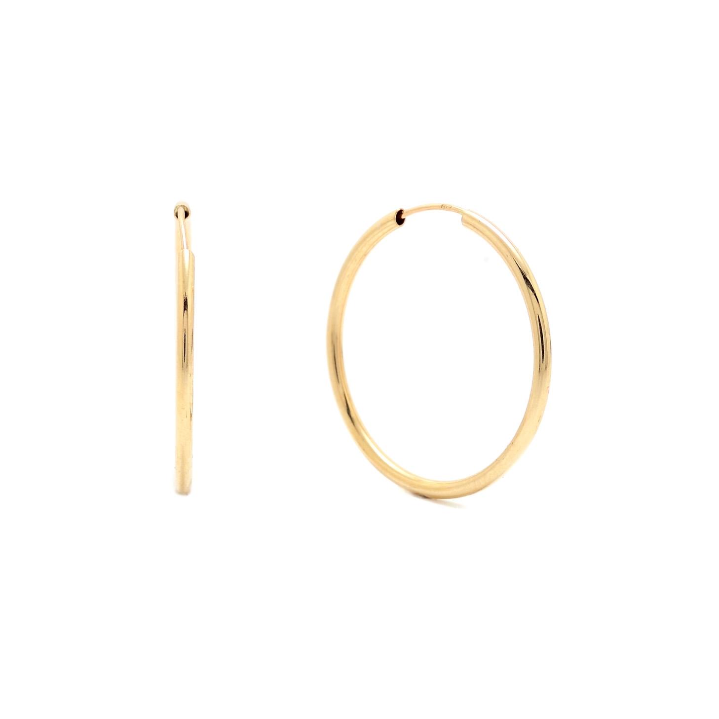 Zlaté náušnice FAIZA - kruhy