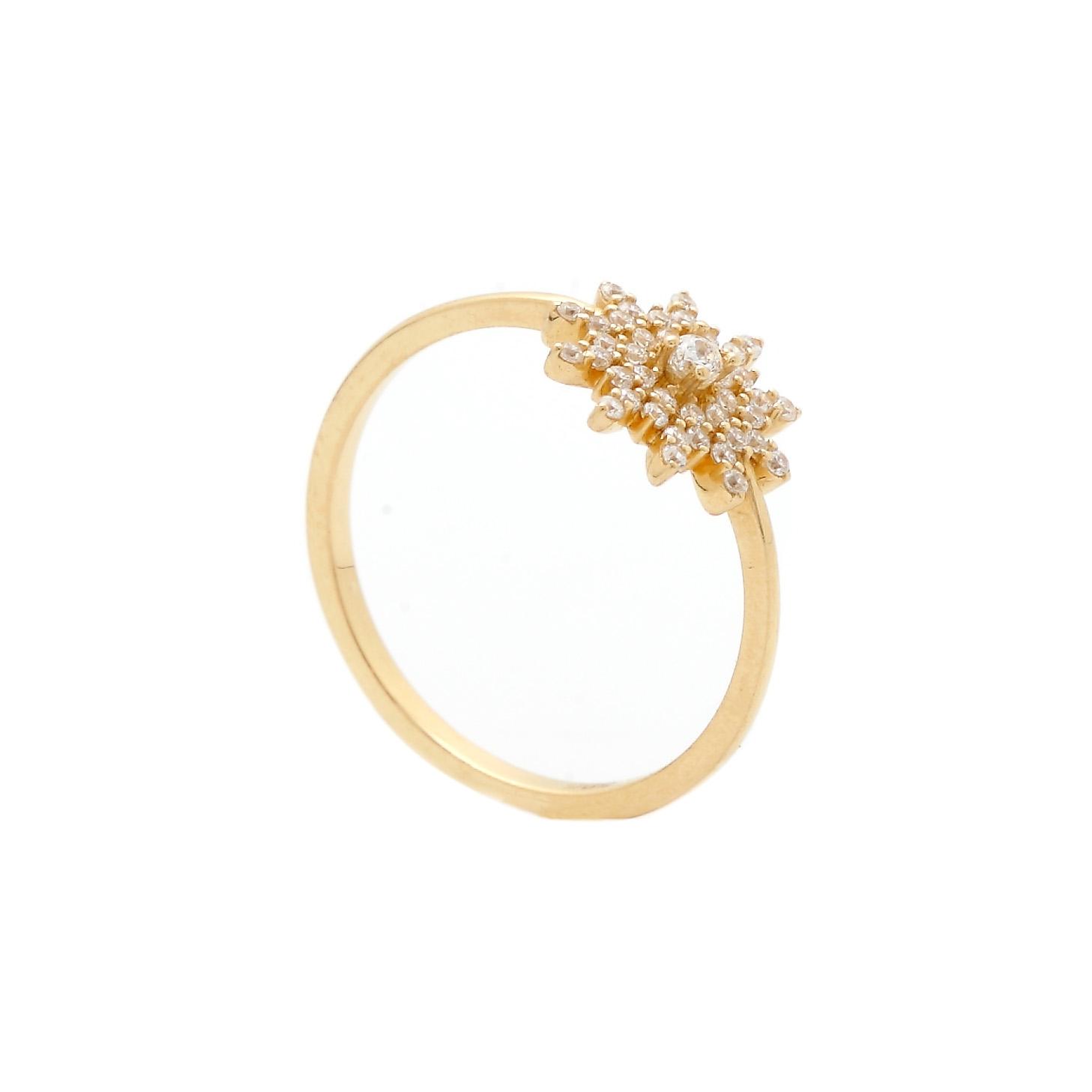 Zlatý prsteň HILMA so zirkónmi