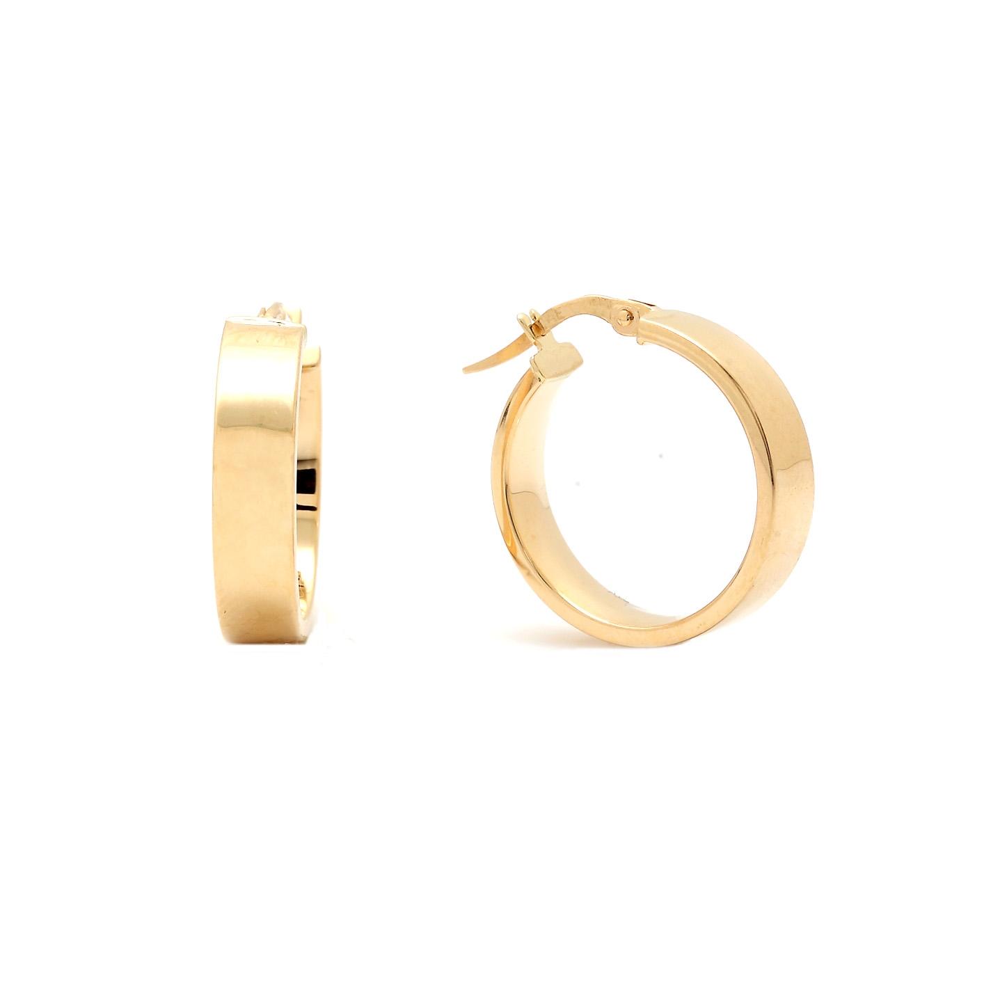 Zlaté náušnice HUELA - kruhy