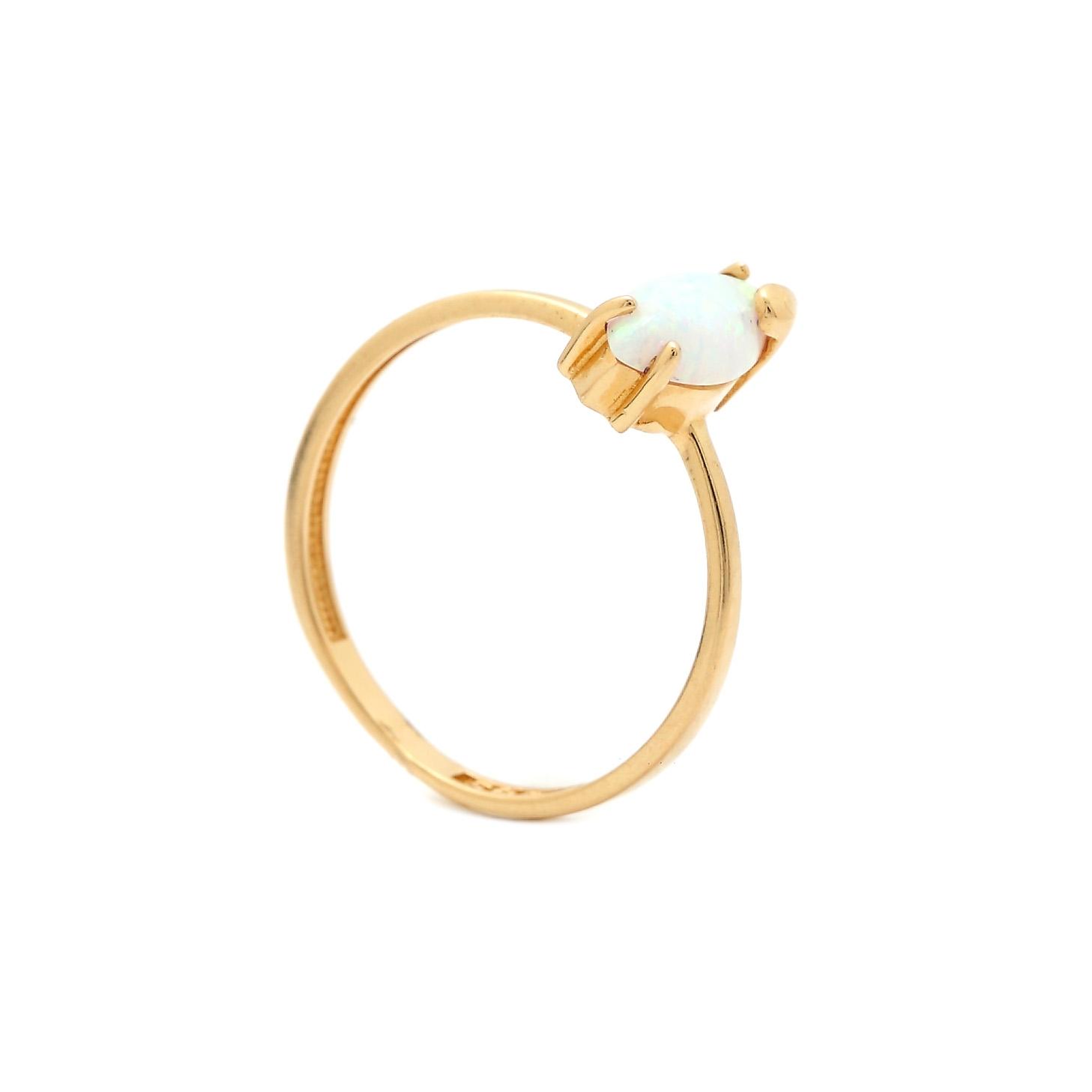 Zlatý prsteň HULDA s opálom