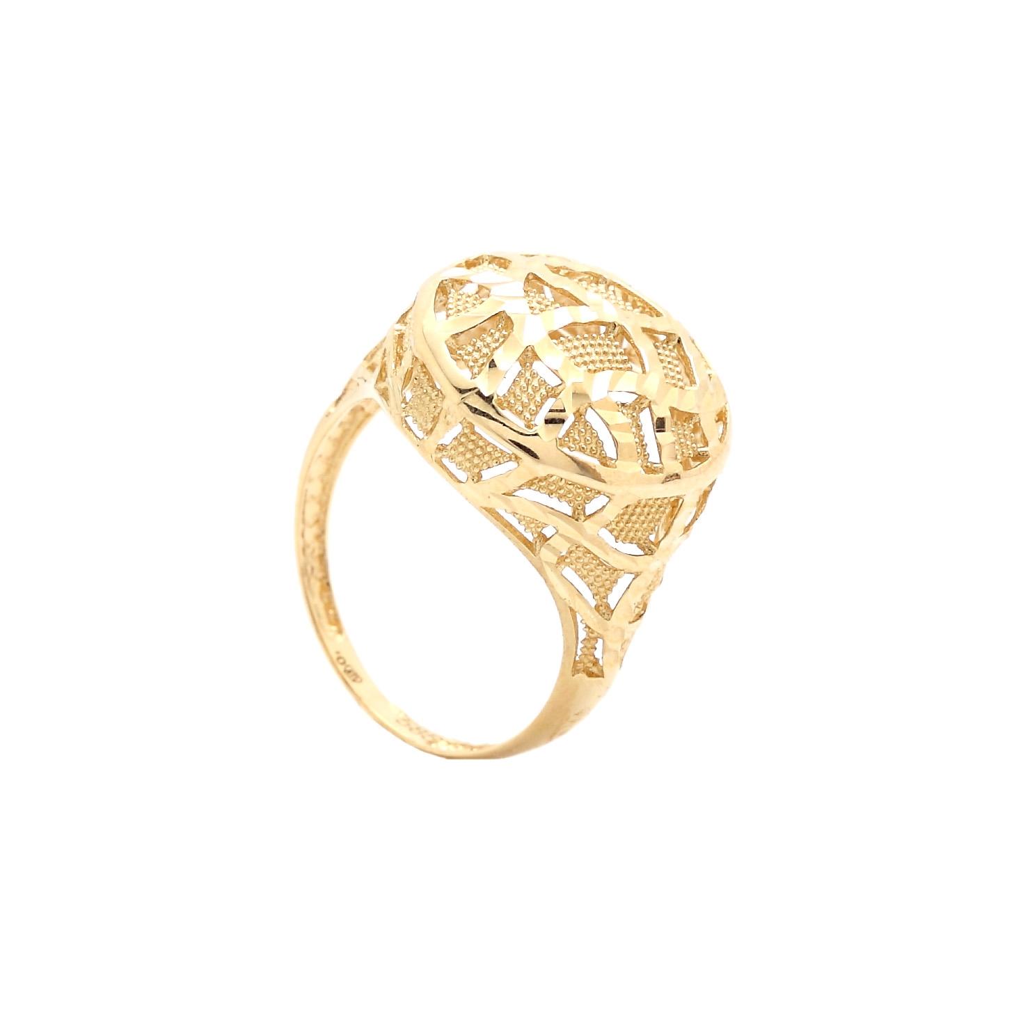 Zlatý dámsky prsteň KARMELA