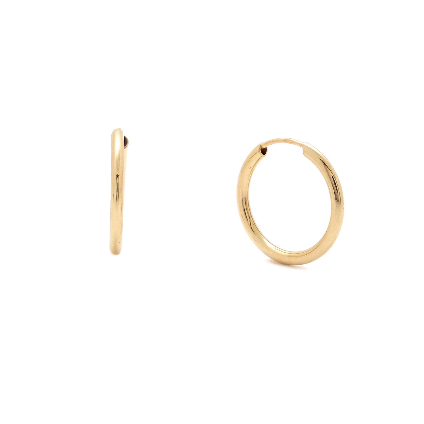 Zlaté náušnice FREJA - malé kruhy
