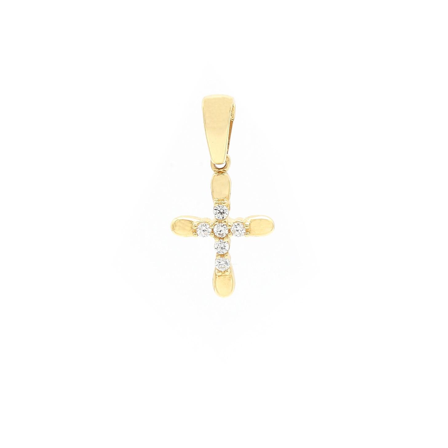Malý zlatý krížik so zirkónmi