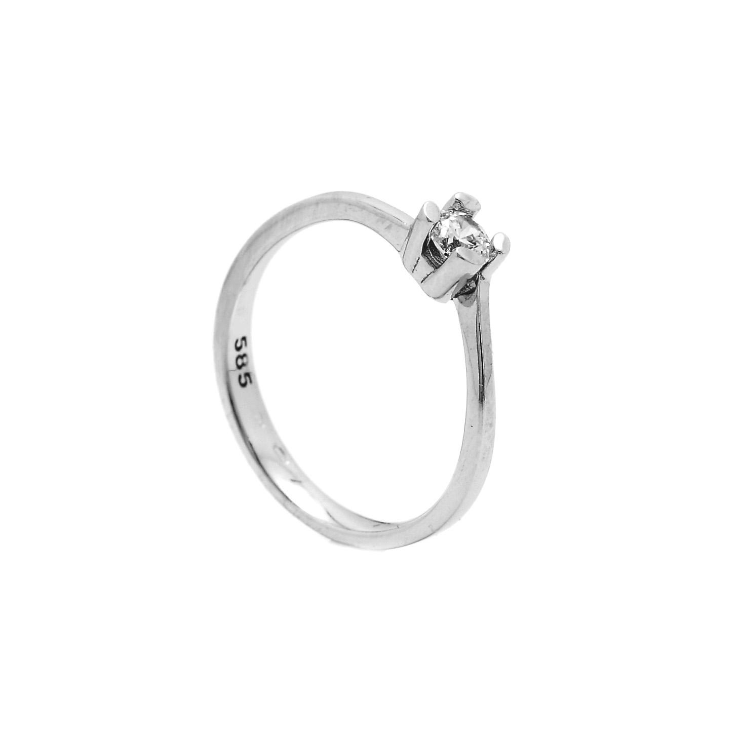Zlatý zásnubný prsteň CAMBRIA