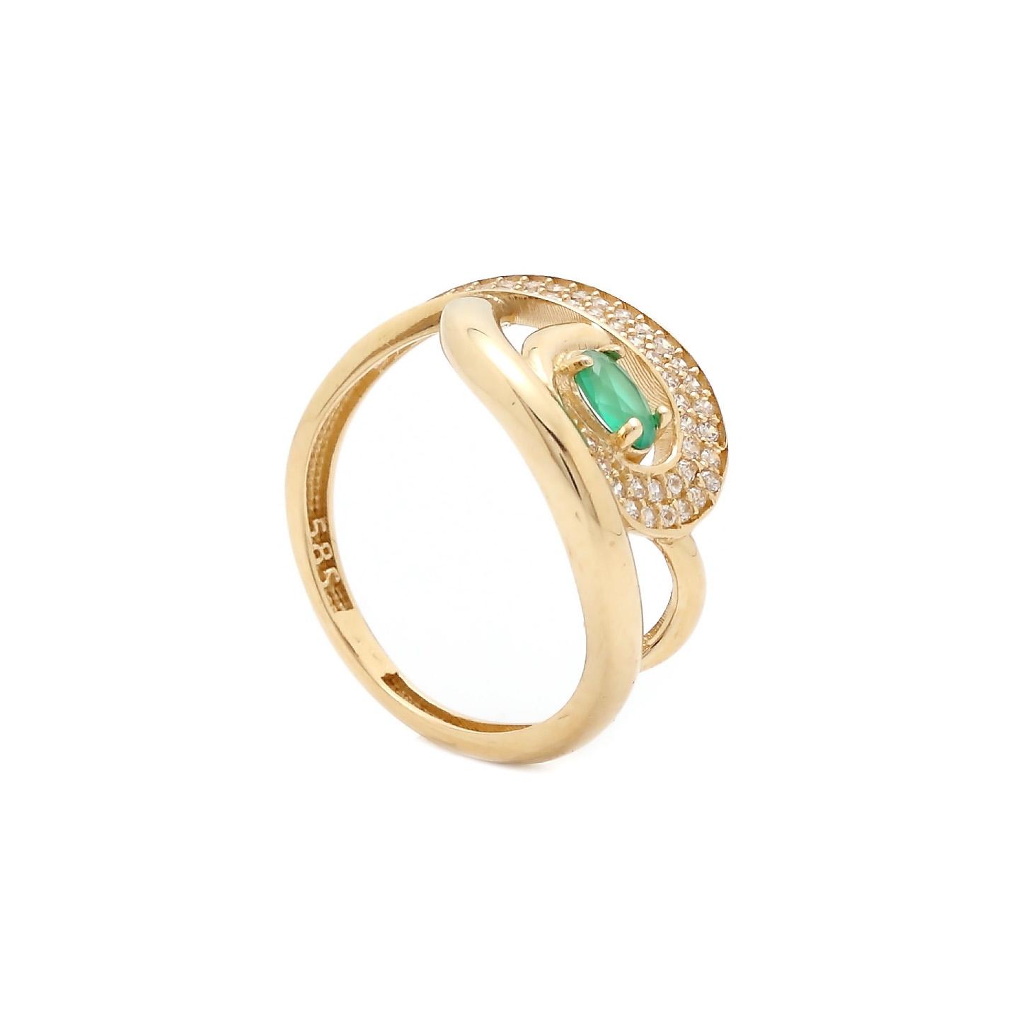 Zlatý prsteň SMERALDO so smaragdom