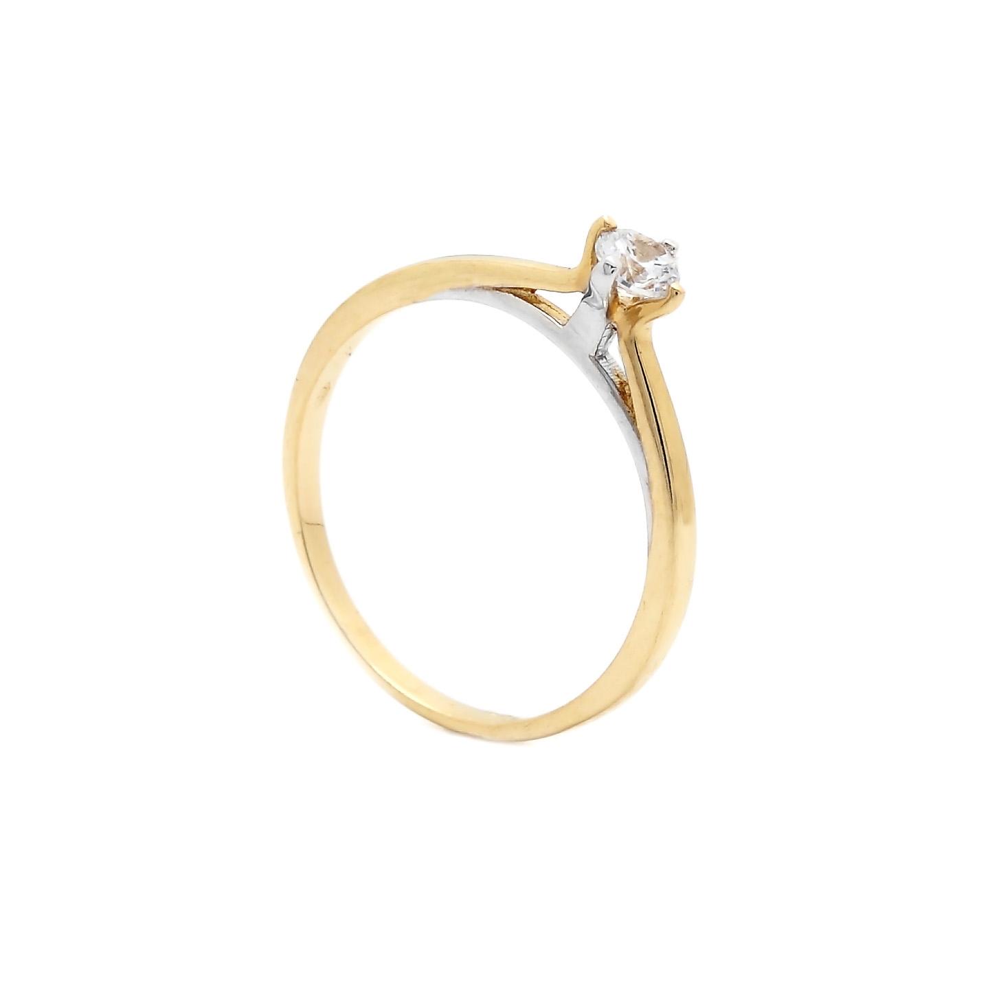 Zlatý zásnubný prsteň ITOTIA