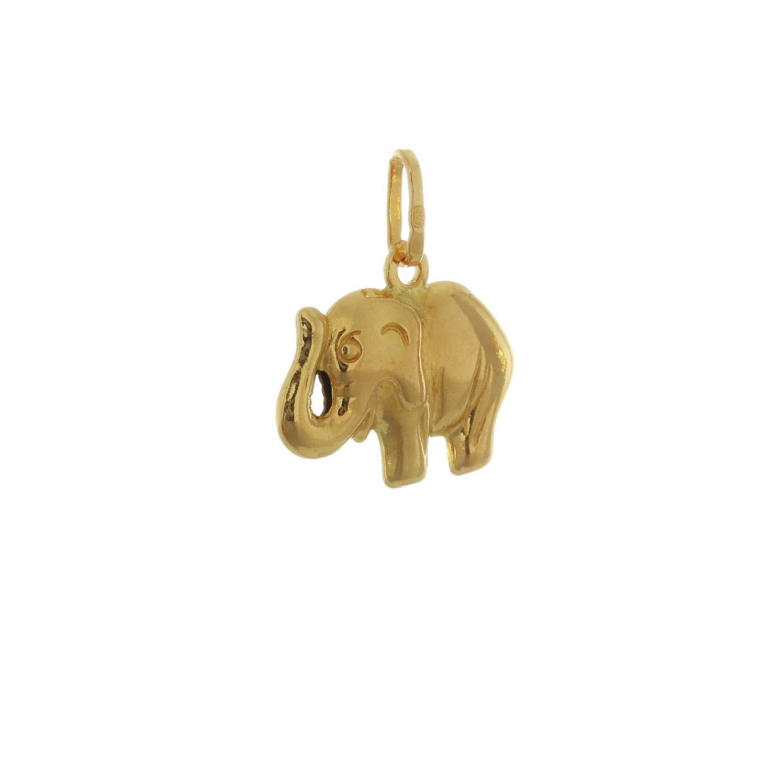 Prívesok Slon zo žltého zlata