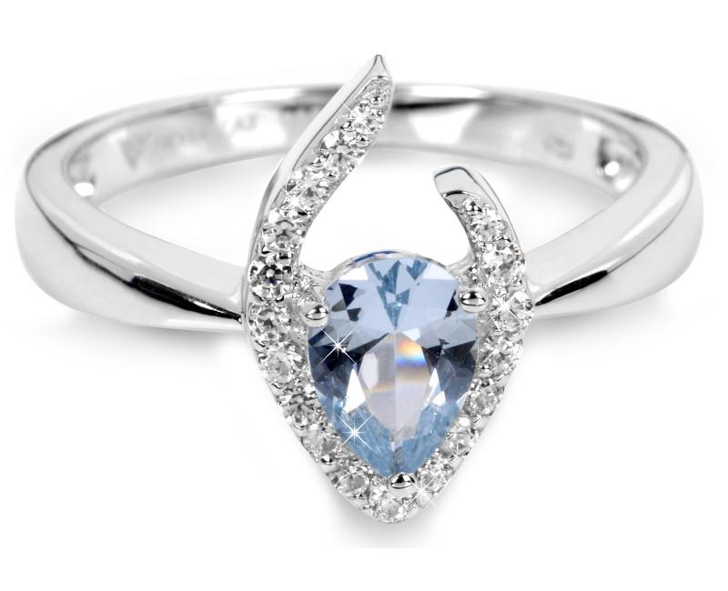 Silver Cat Stříbrný prsten s modrým krystalem SC115 14e140fc1ea