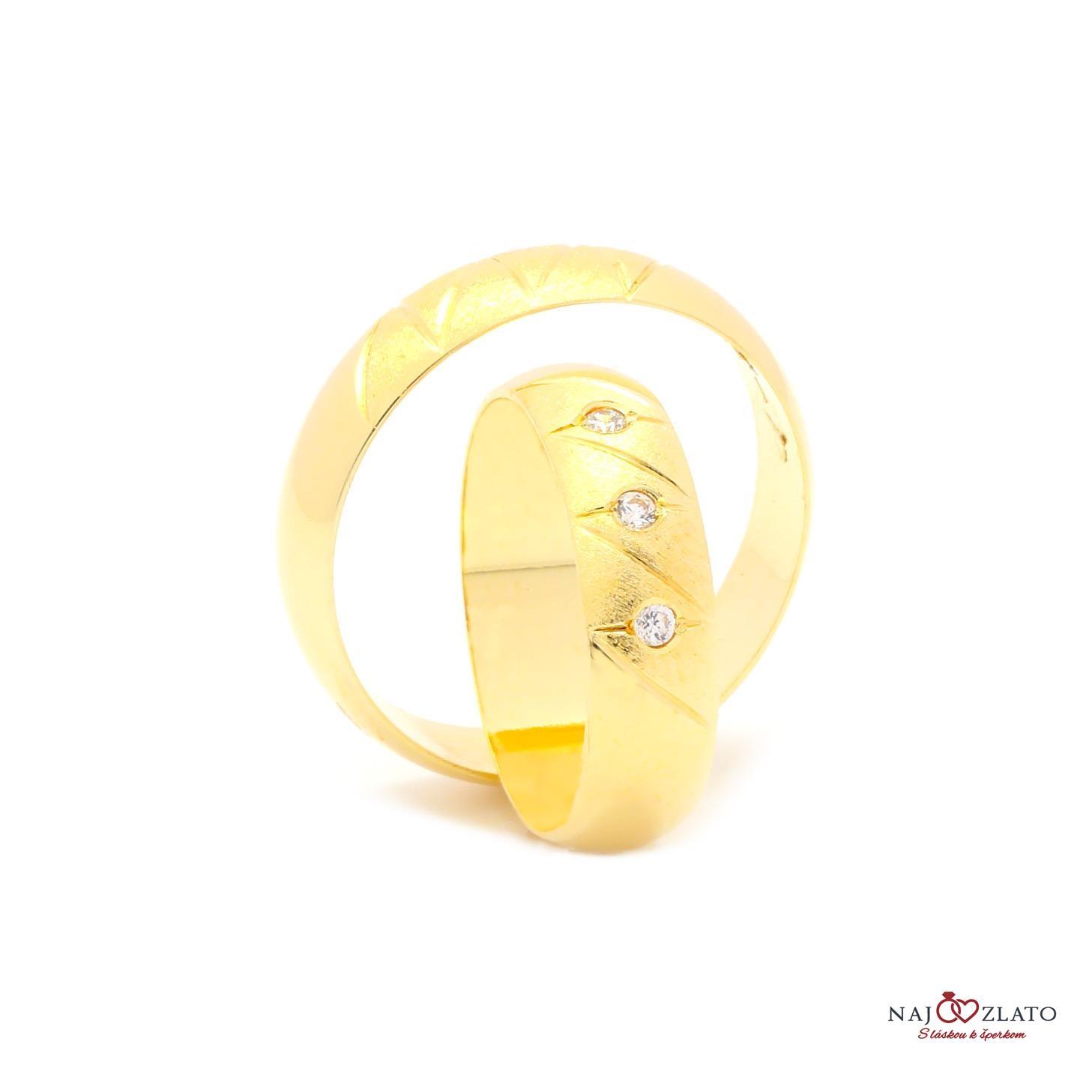 5c3cc68d9 Svadobné obrúčky BRIALLEN zo žltého zlata | Najzlato.sk