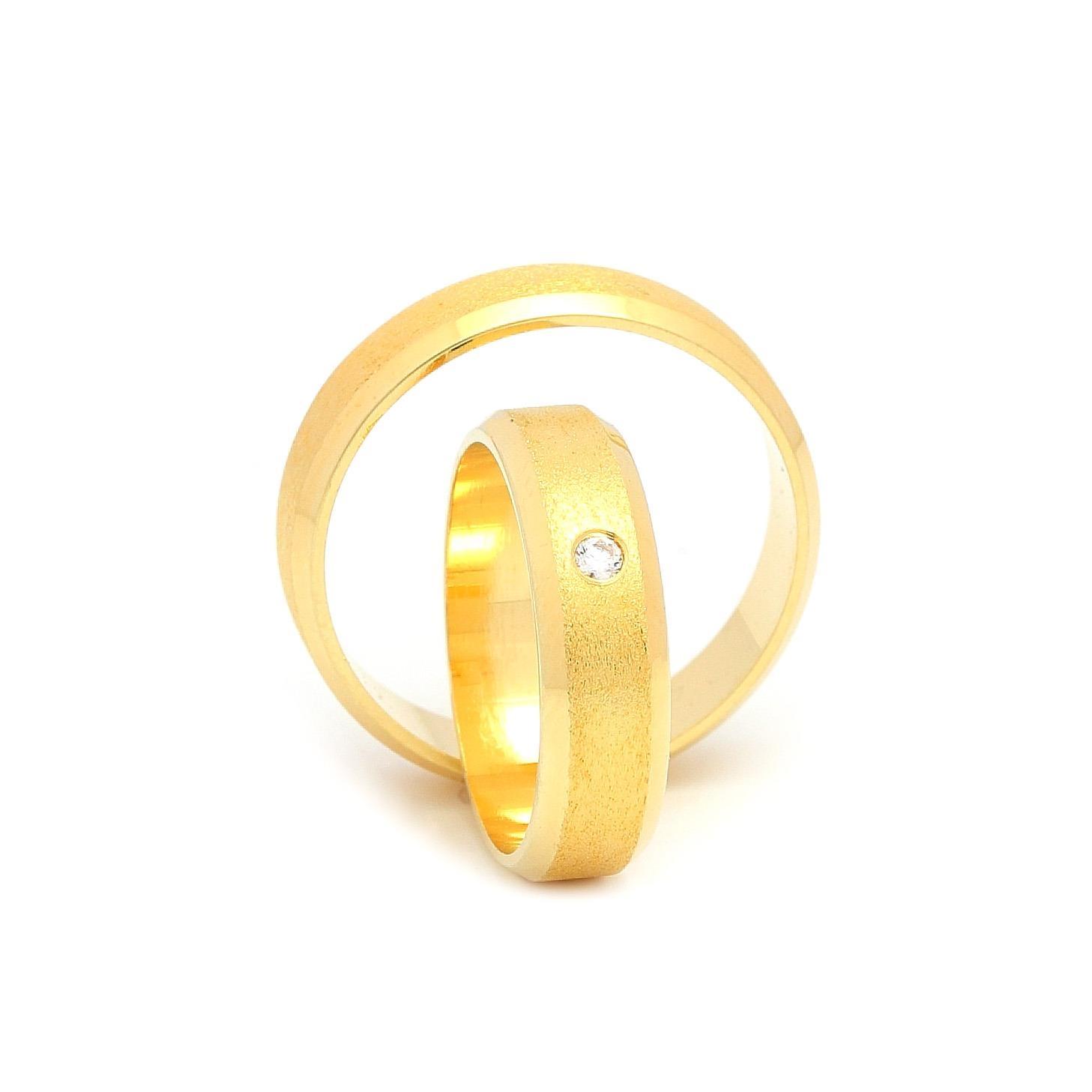 Svadobné obrúčky CALANTHIA zo žltého zlata