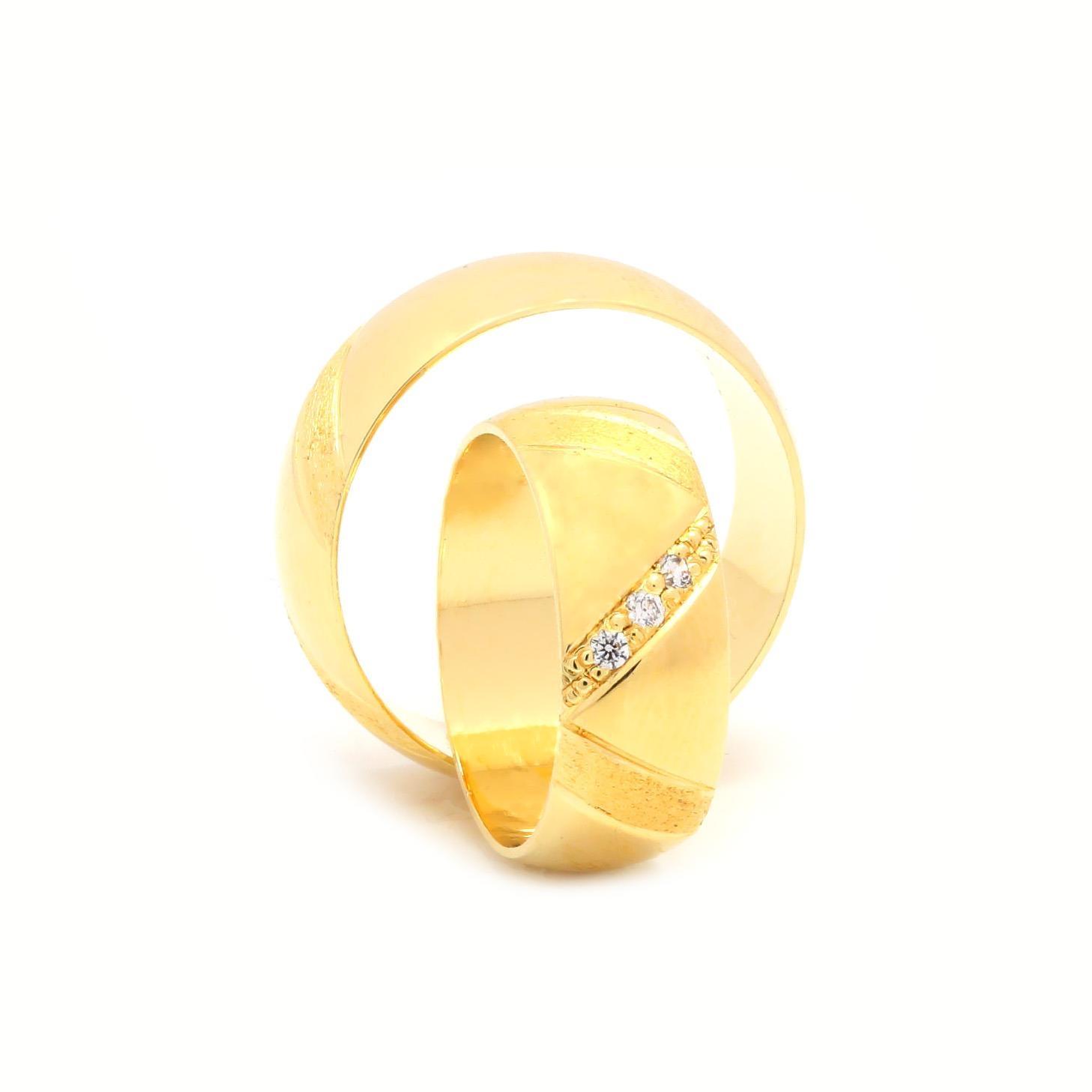 Svadobné obrúčky CHLORIS zo žltého zlata