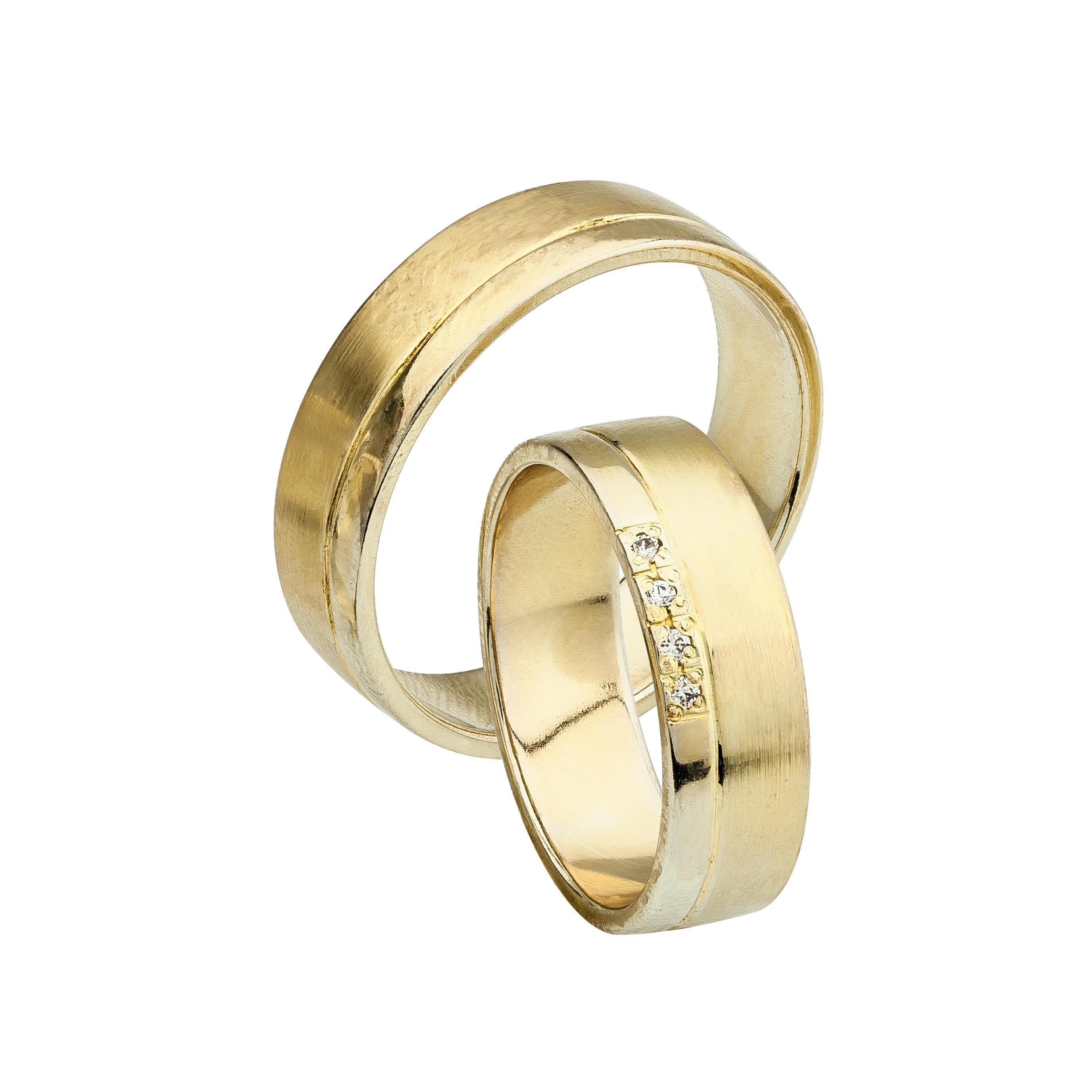 Svadobné obrúčky FLOELLA zo žltého zlata 3d870674ce7